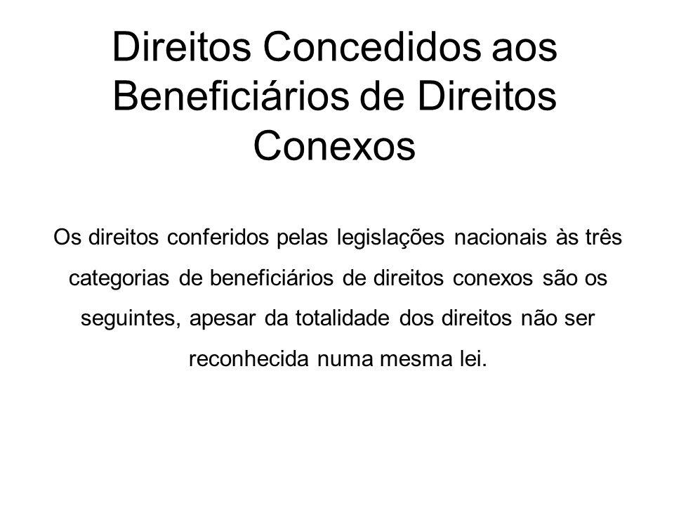 Direitos Concedidos aos Beneficiários de Direitos Conexos
