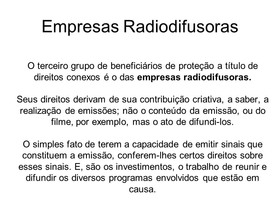 Empresas Radiodifusoras