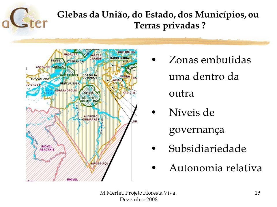 Glebas da União, do Estado, dos Municípios, ou Terras privadas