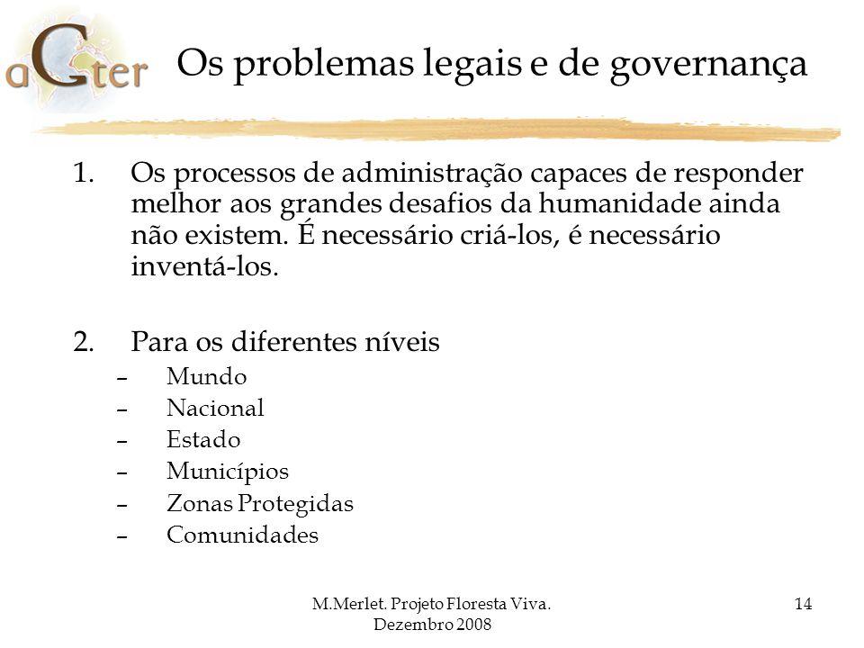 Os problemas legais e de governança