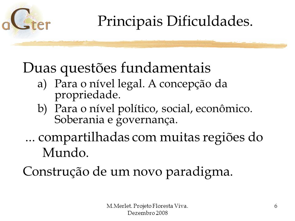 Principais Dificuldades.