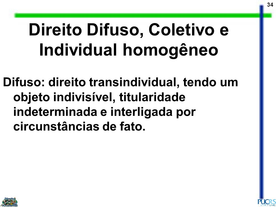 Direito Difuso, Coletivo e Individual homogêneo