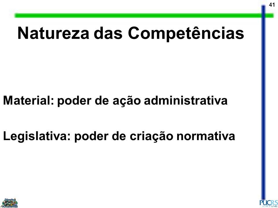 Natureza das Competências