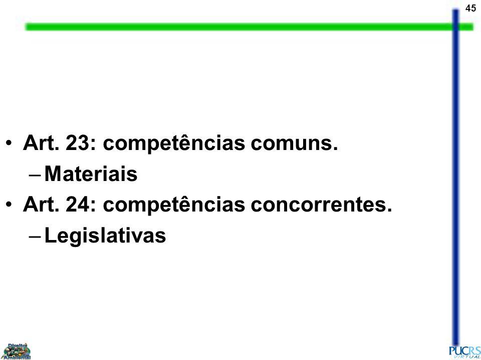 Art. 23: competências comuns.