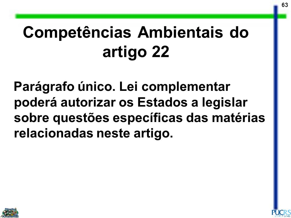 Competências Ambientais do artigo 22