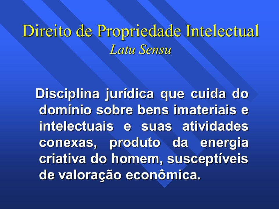 Direito de Propriedade Intelectual Latu Sensu