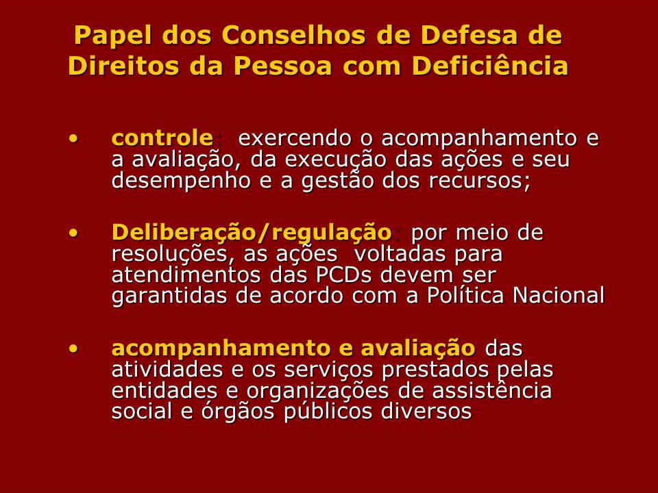 Papel dos Conselhos de Defesa de Direitos da Pessoa com Deficiência