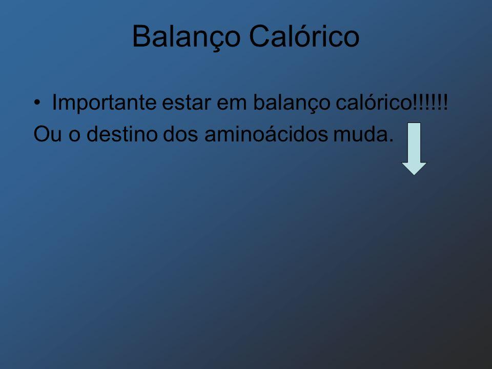 Balanço Calórico Importante estar em balanço calórico!!!!!!
