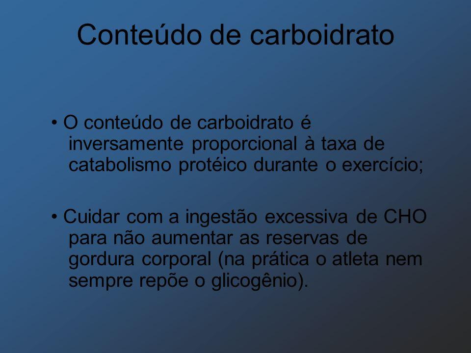 Conteúdo de carboidrato