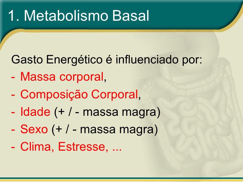 1. Metabolismo Basal Massa corporal, Composição Corporal,