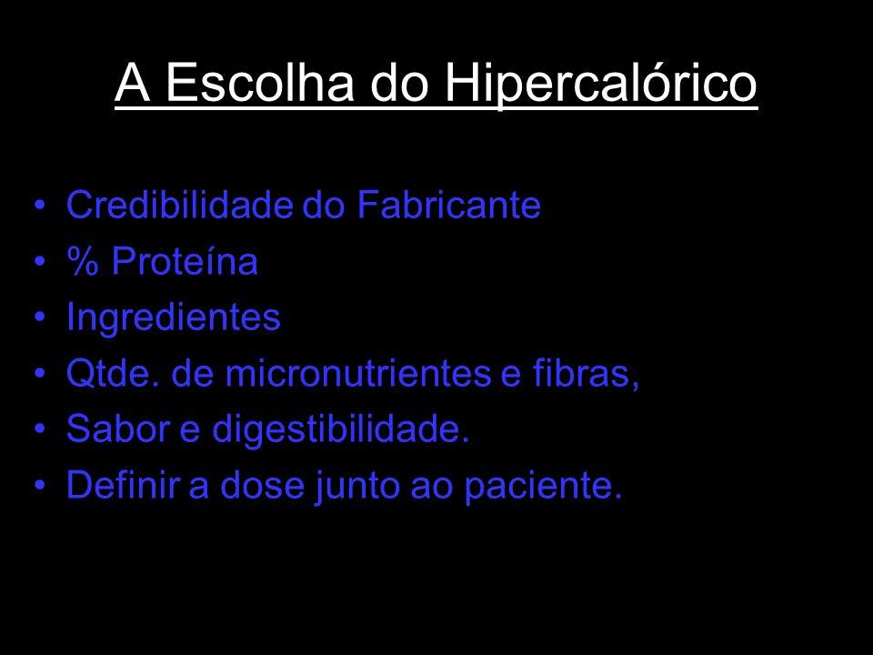 A Escolha do Hipercalórico