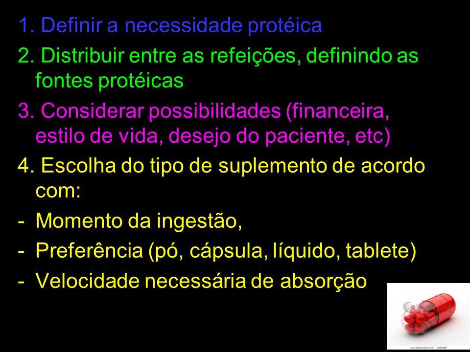 1. Definir a necessidade protéica