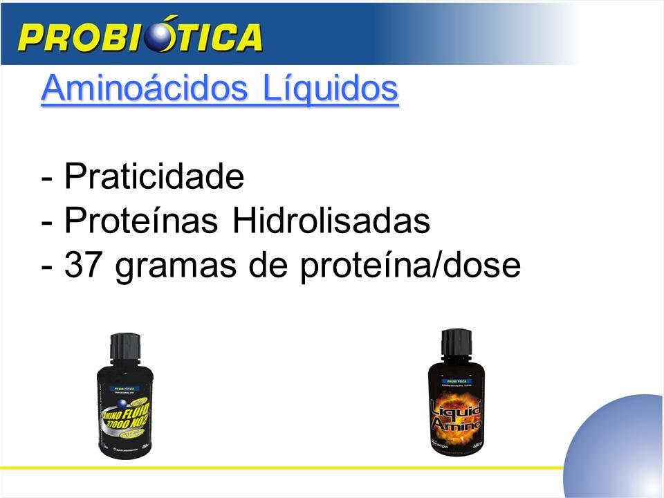 Aminoácidos Líquidos - Praticidade - Proteínas Hidrolisadas - 37 gramas de proteína/dose