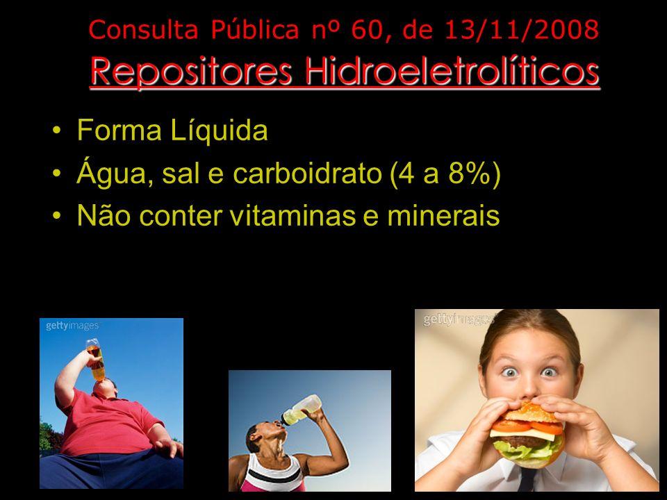 Consulta Pública nº 60, de 13/11/2008 Repositores Hidroeletrolíticos