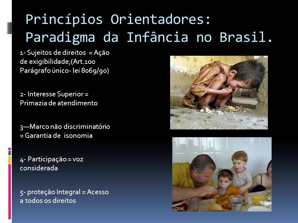 Princípios Orientadores: Paradigma da Infância no Brasil.