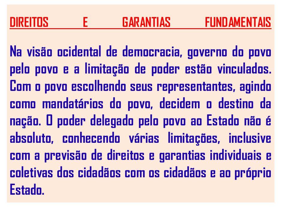 DIREITOS E GARANTIAS FUNDAMENTAIS