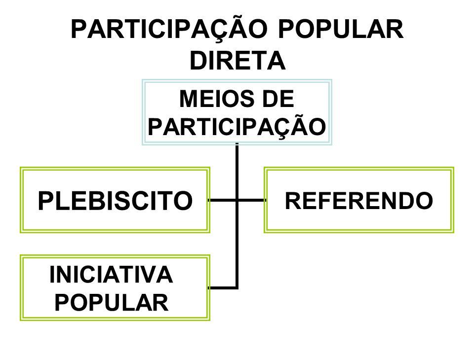 PARTICIPAÇÃO POPULAR DIRETA