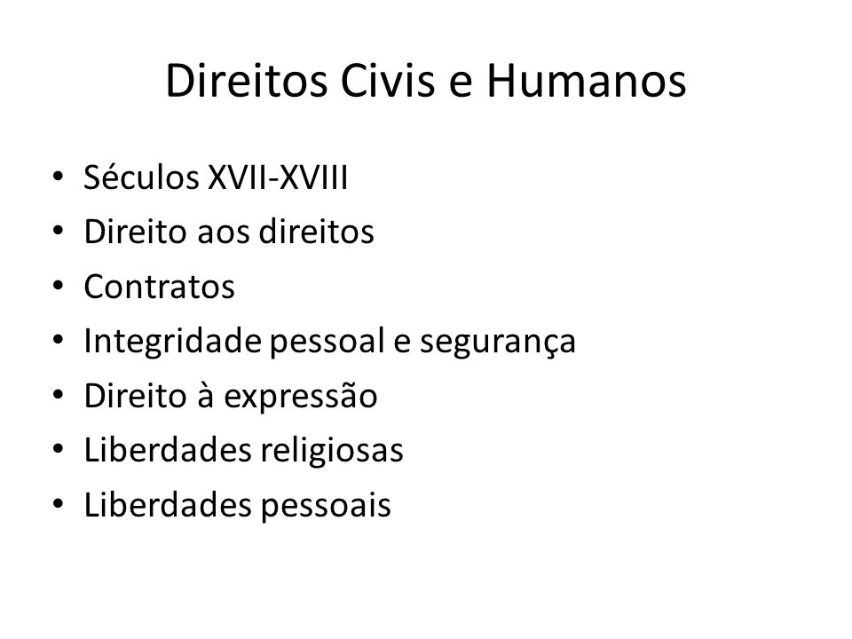 Direitos Civis e Humanos