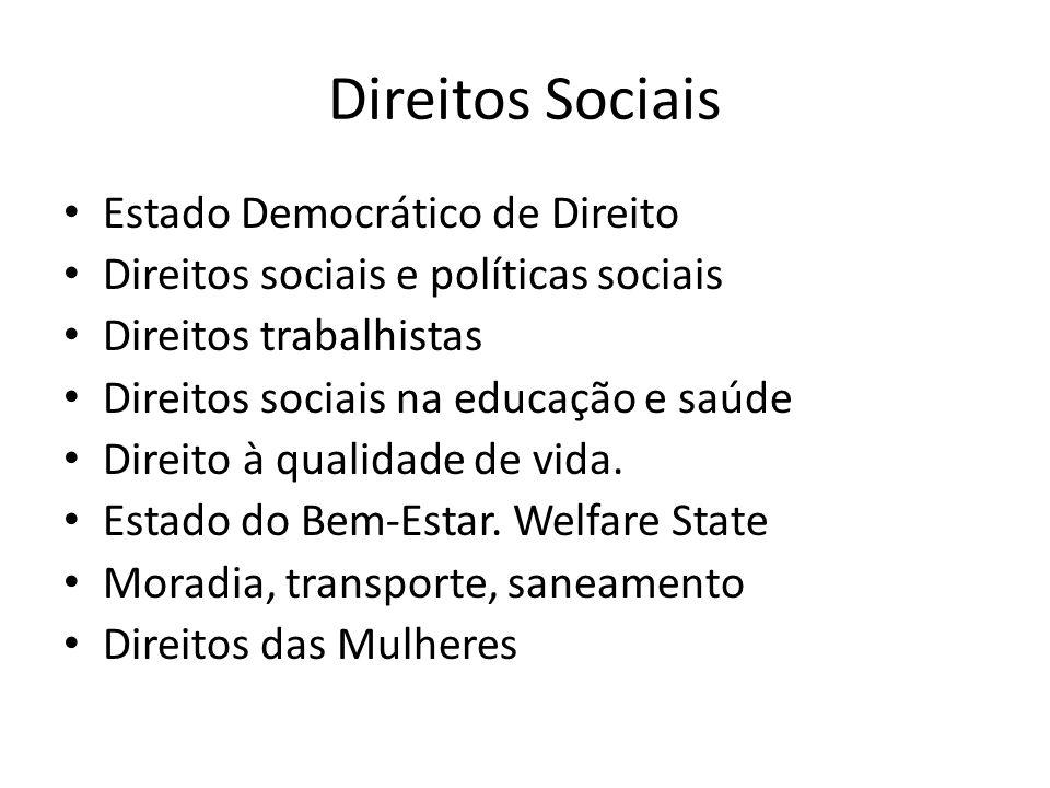 Direitos Sociais Estado Democrático de Direito