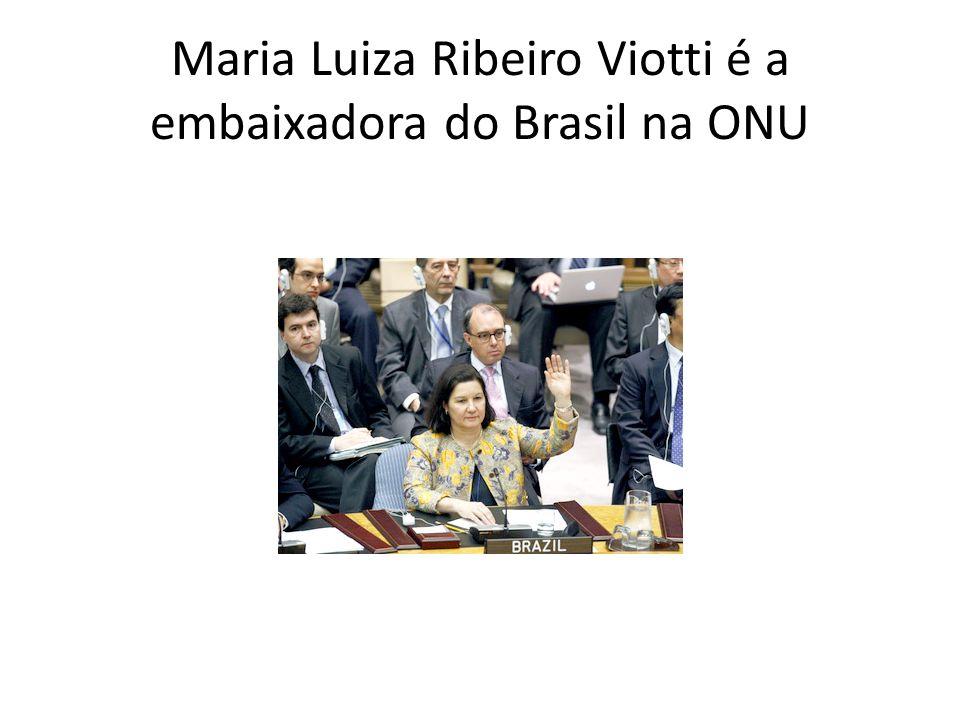 Maria Luiza Ribeiro Viotti é a embaixadora do Brasil na ONU