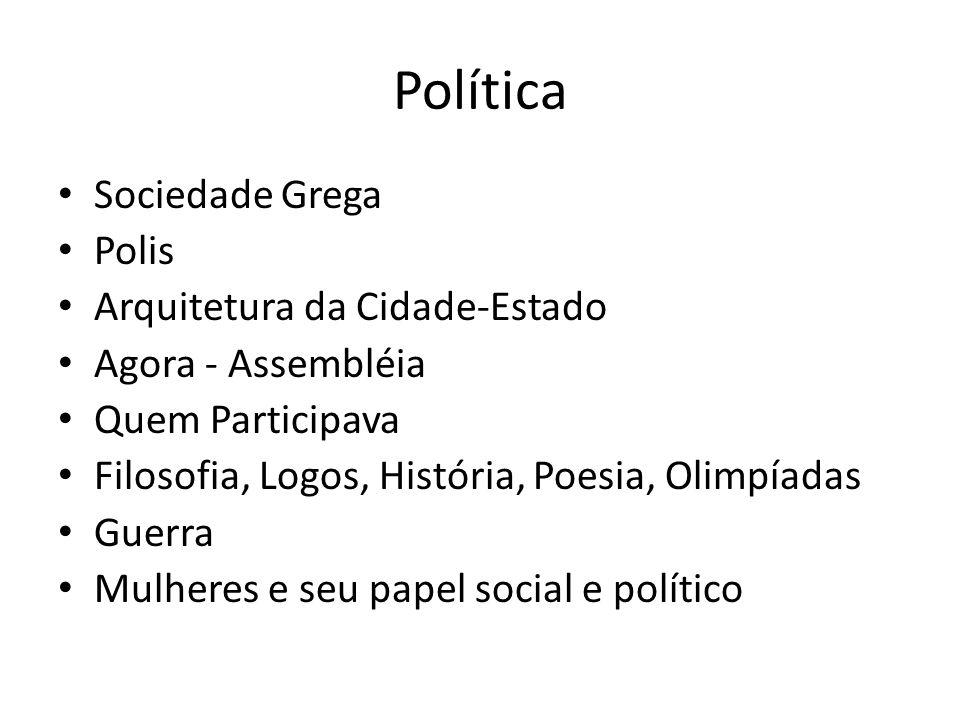 Política Sociedade Grega Polis Arquitetura da Cidade-Estado