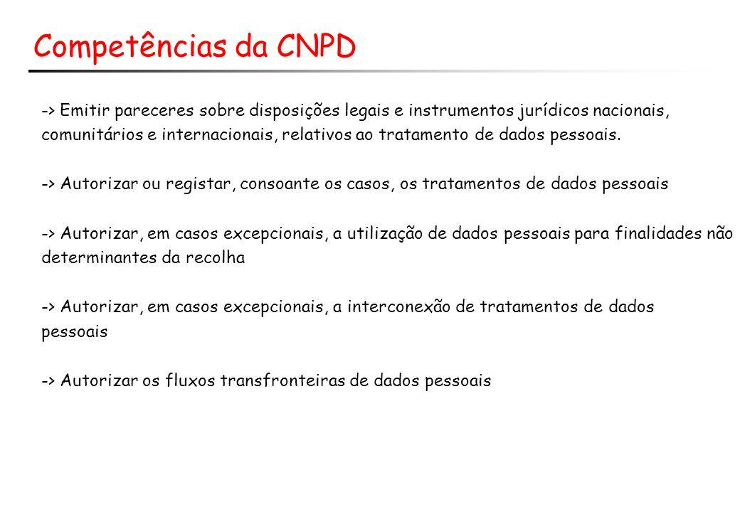 Competências da CNPD -> Emitir pareceres sobre disposições legais e instrumentos jurídicos nacionais,