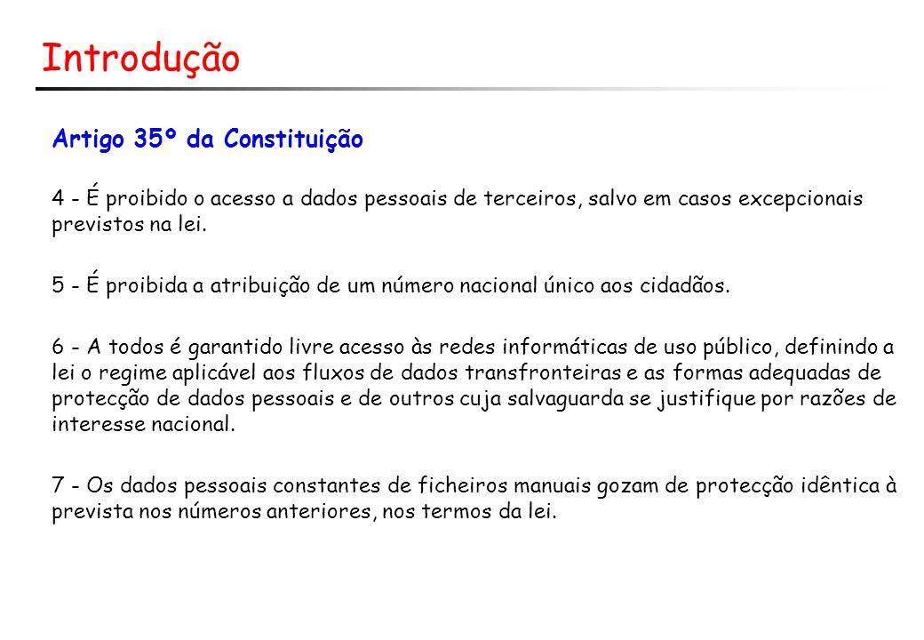 Introdução Artigo 35º da Constituição