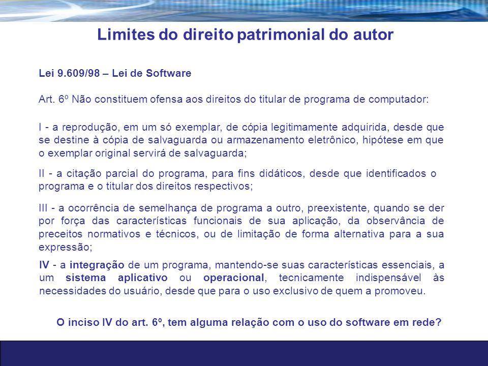 Limites do direito patrimonial do autor