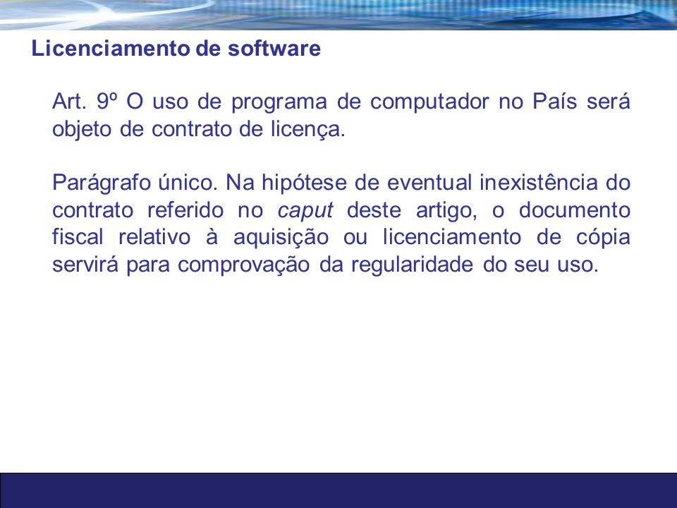 Licenciamento de software