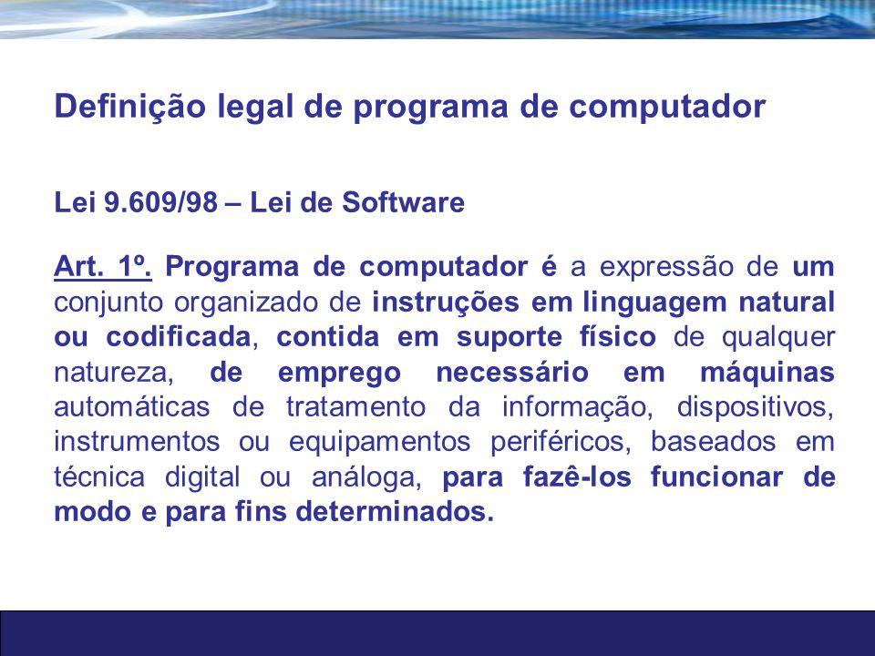 Definição legal de programa de computador