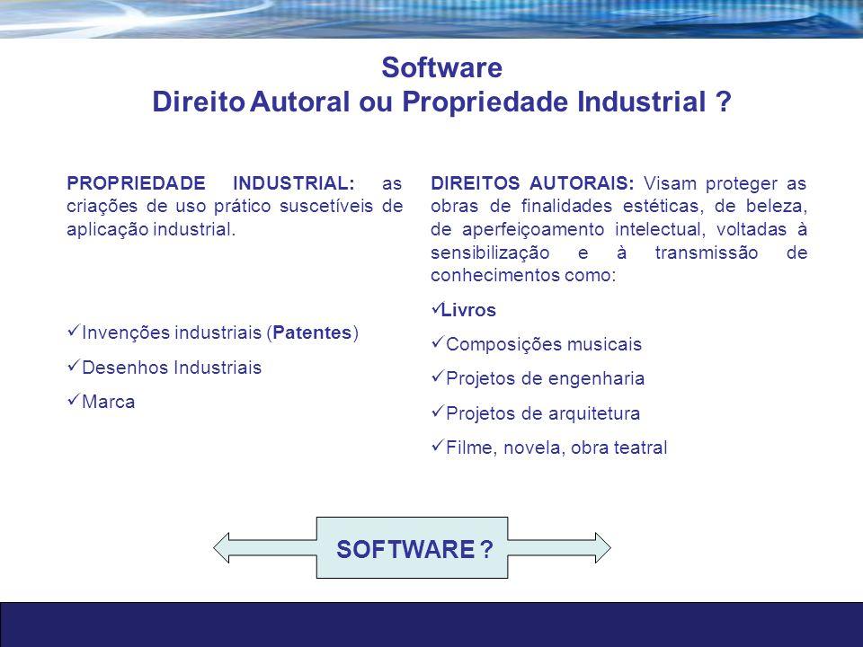 Direito Autoral ou Propriedade Industrial