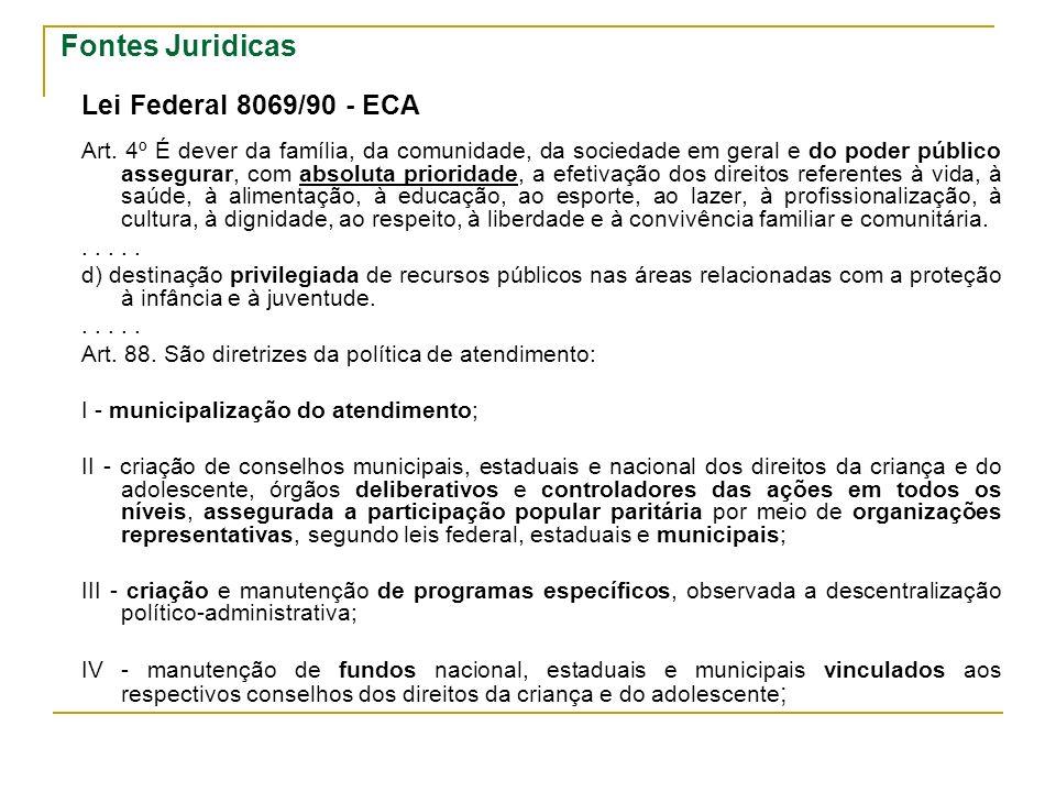 Fontes Juridicas Lei Federal 8069/90 - ECA