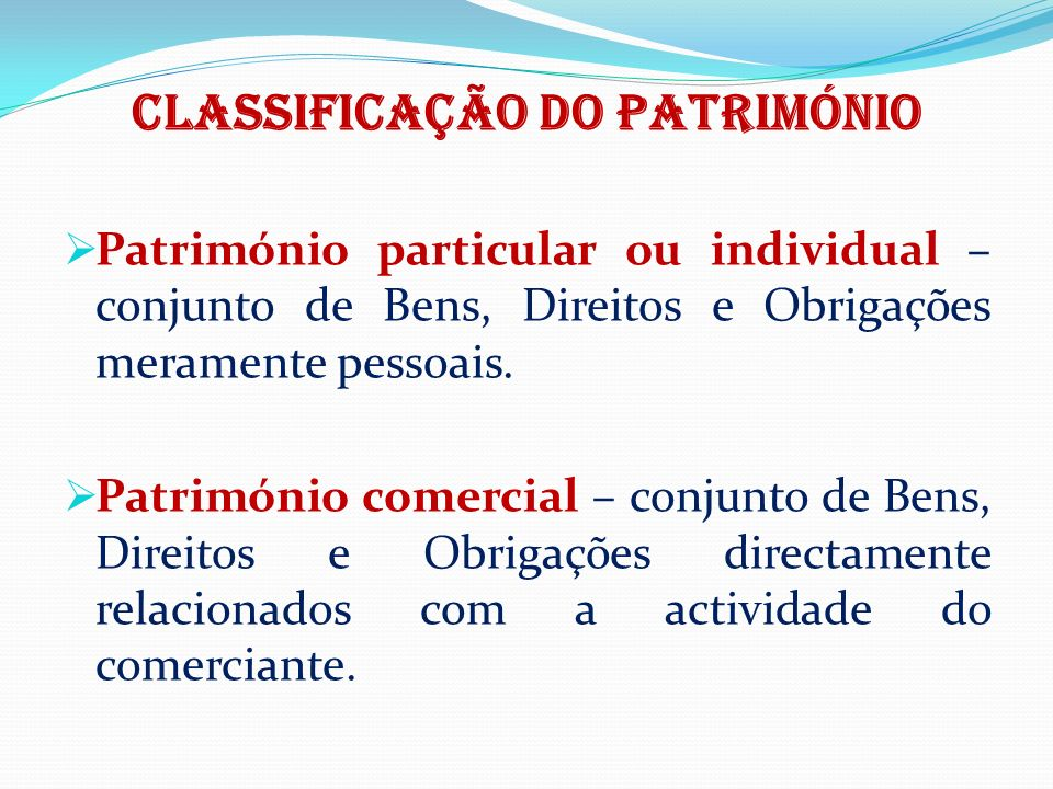 Classificação do património