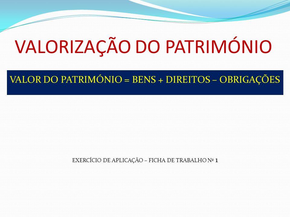 VALORIZAÇÃO DO PATRIMÓNIO