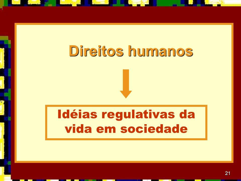Idéias regulativas da vida em sociedade