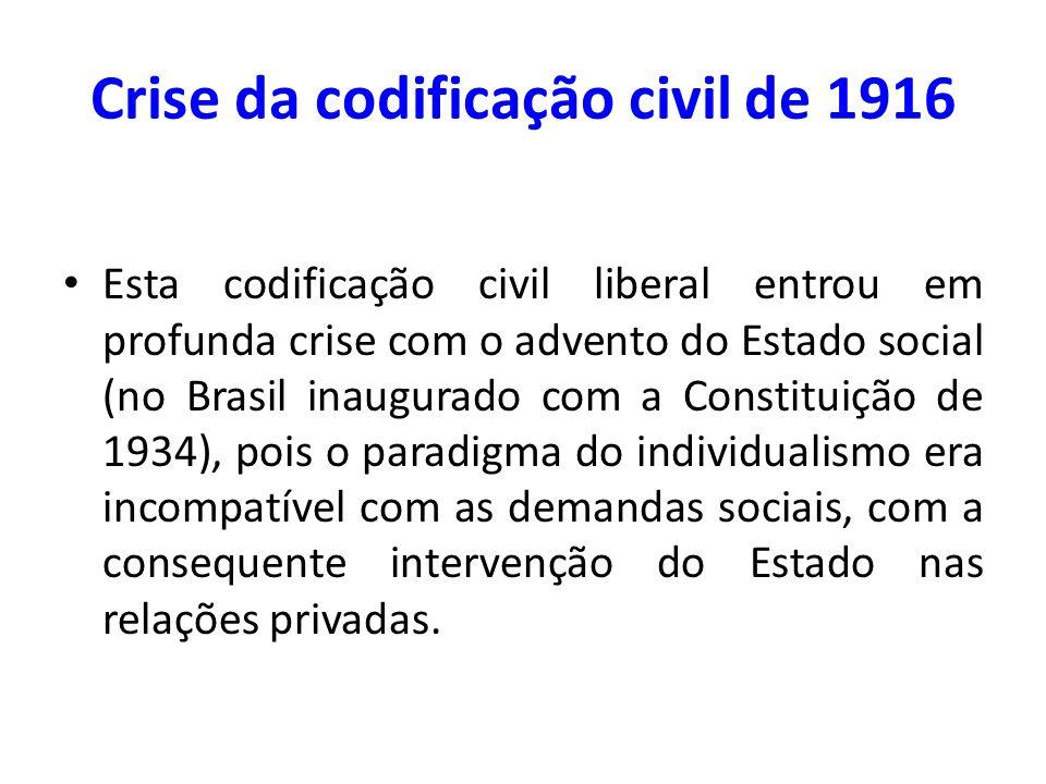 Crise da codificação civil de 1916