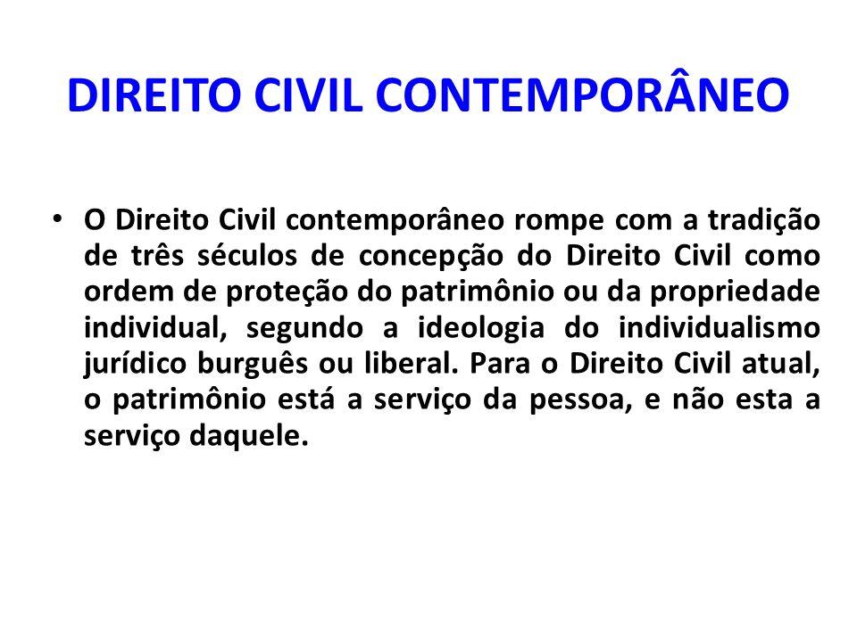 DIREITO CIVIL CONTEMPORÂNEO
