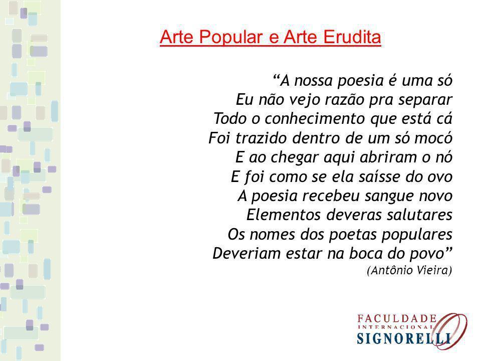 Arte Popular e Arte Erudita