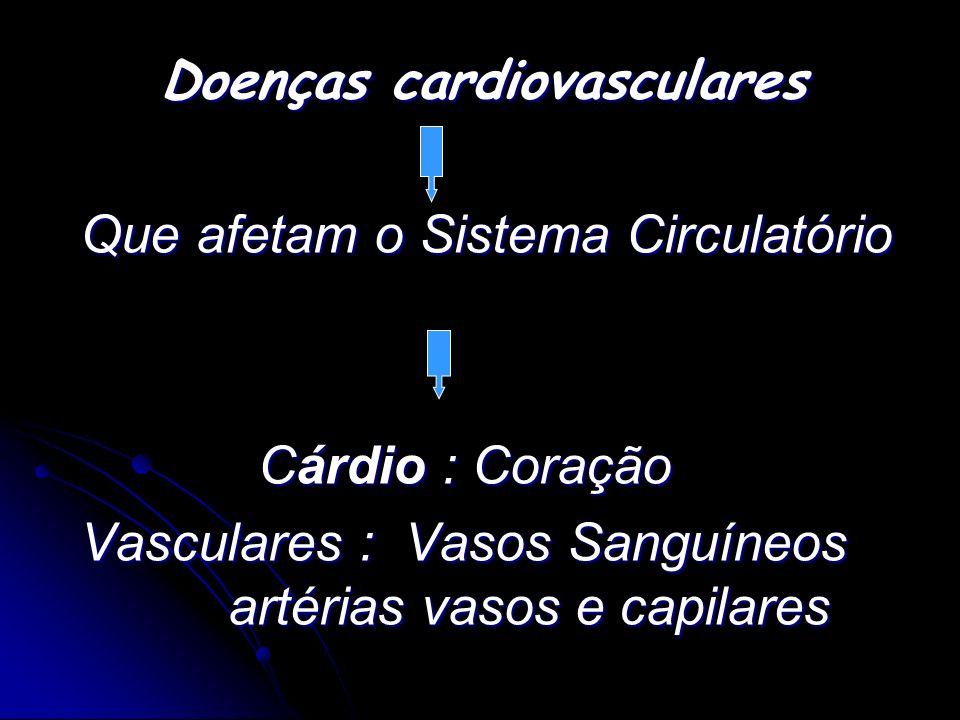Que afetam o Sistema Circulatório