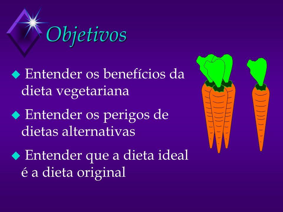 Objetivos Entender os benefícios da dieta vegetariana