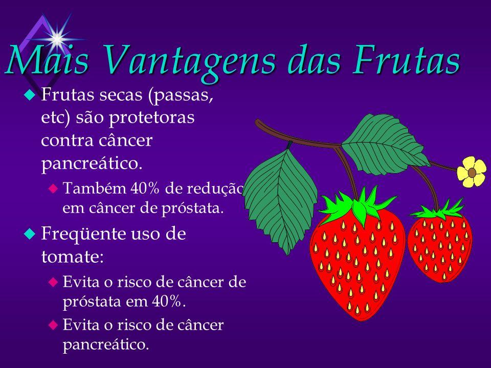 Mais Vantagens das Frutas