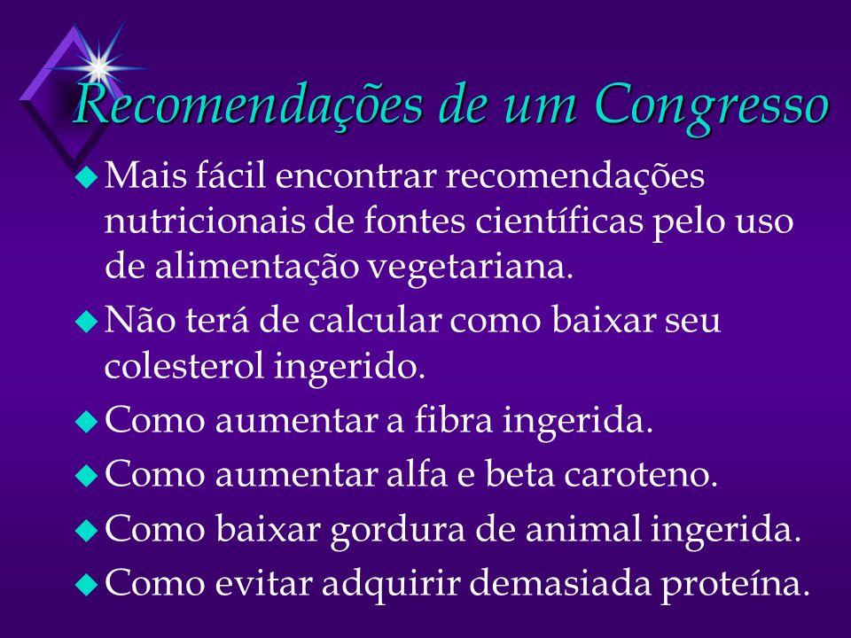 Recomendações de um Congresso