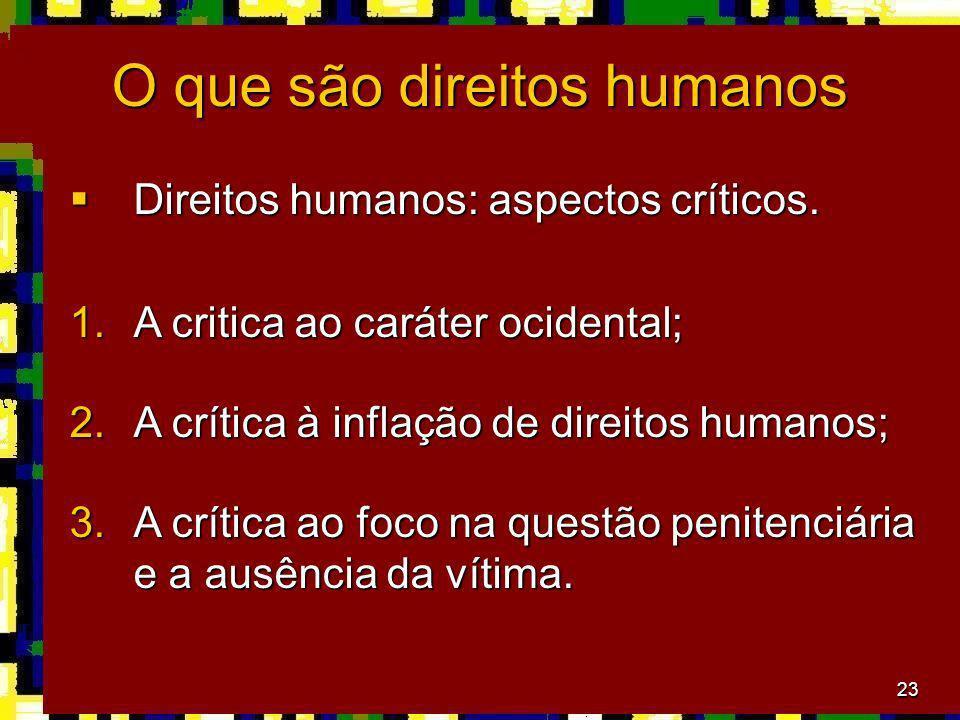 O que são direitos humanos