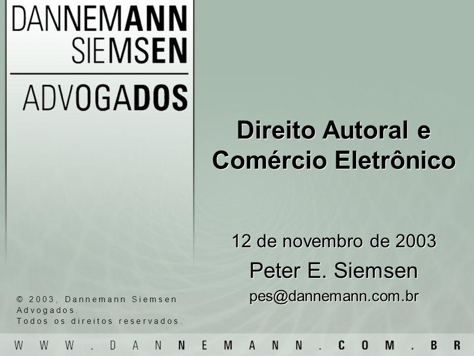 Direito Autoral e Comércio Eletrônico