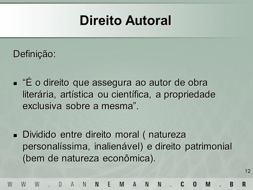Direito Autoral Definição: