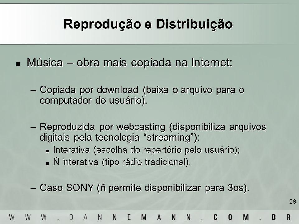 Reprodução e Distribuição