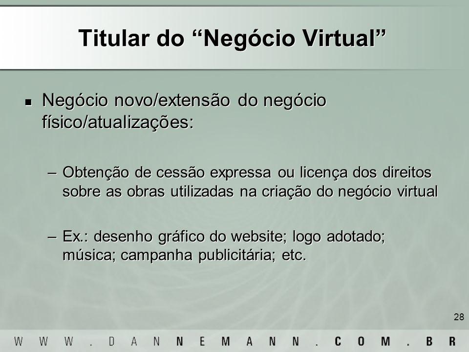 Titular do Negócio Virtual
