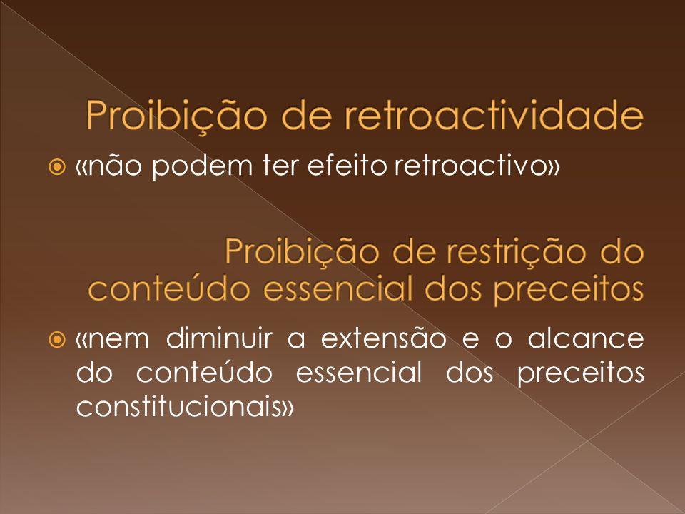 Proibição de retroactividade