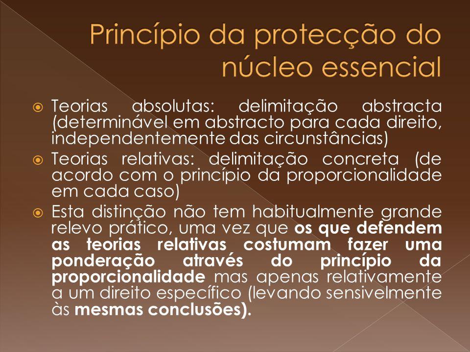 Princípio da protecção do núcleo essencial
