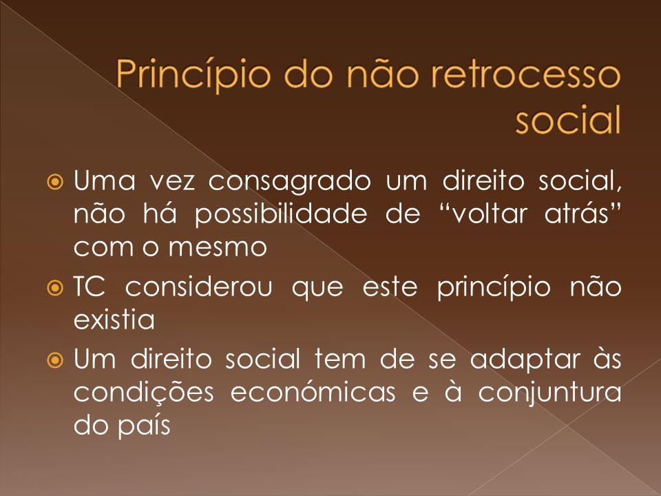 Princípio do não retrocesso social